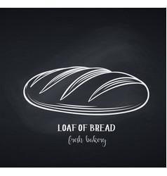 Loaf bread chalkboard style vector
