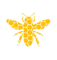 Logo a bee stylized with a honey bee vector