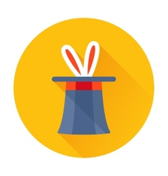 Magician hat with rabbit ears icon vector