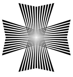 Maltese cross symbol victory and power vector