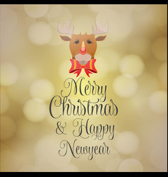 merry christmas and hapy new year background vector image