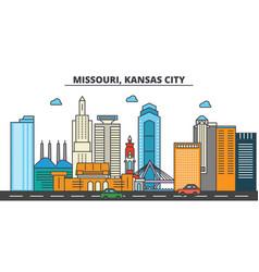 Missouri kansas citycity skyline architecture vector