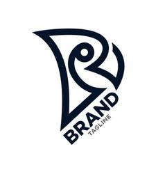 Modern simple parrot logo vector
