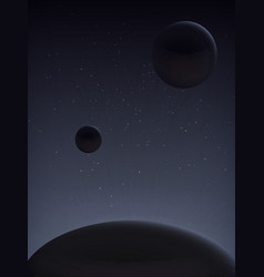 parade of planets space landscape vector image