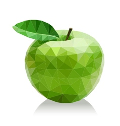 Polygon green apple vector
