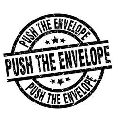 Push the envelope round grunge black stamp vector