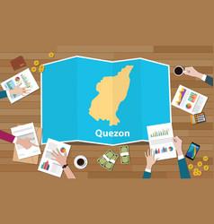 Quezon philippines province city region economy vector