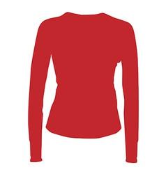 Red sport shirt vector