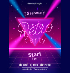 Retro party hand lettering design template vector