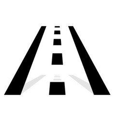 Road symbol road icon straight road in vector