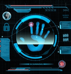 Scanning human hand vector image