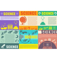 Science theme for infographic vector