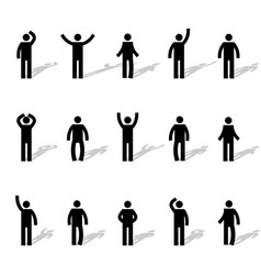Set of stick figures vector