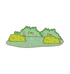 shrubbery rural landscape vector image