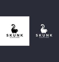 Skunk logo design templates vector