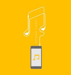 smartphone black color flat design mock up music vector image