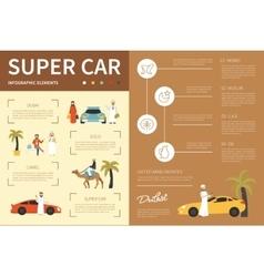 Super car infographic flat vector