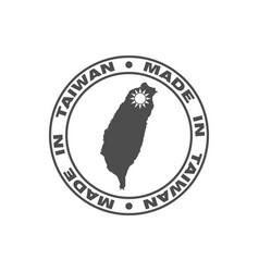 taiwan print vector image
