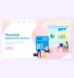 template financial site financial analytics vector image