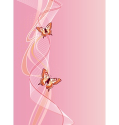 Vertical background with butterfly vector