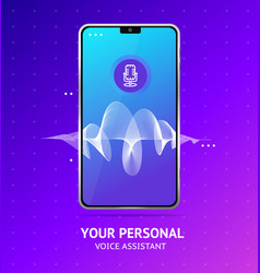 Voice assistant which realistic detailed 3d mobile vector
