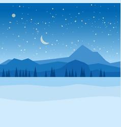 Winter landscape january month season banner vector