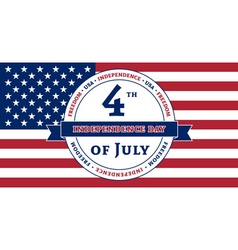 American Independence Day celebration flag vector image vector image