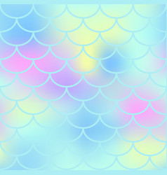 aqua fish scale seamless pattern magic vector image vector image