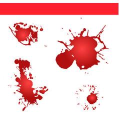 blood splatter paint splash vector image