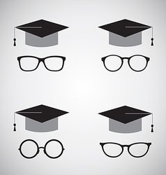 Hat and glasses vector image vector image