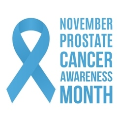 Prostate cancer awarness vector image