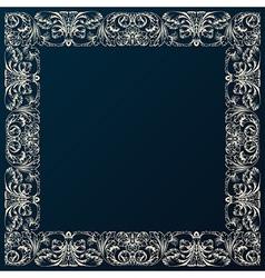 Vintage border frame decor Baroque design with vector image