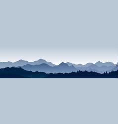 beautiful panoramic view vector image vector image