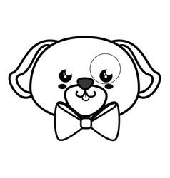 dog kawaii cartoon vector image vector image