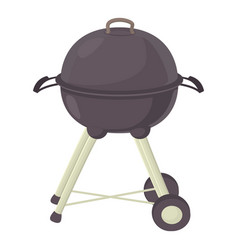 kettle barbecue icon cartoon style vector image