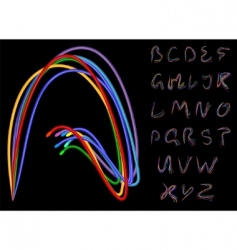 optical fiber alphabet vector image vector image