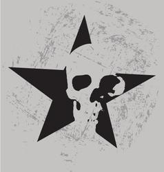 star skull vector image