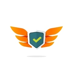 Wings shield symbol concept of protection vector image vector image