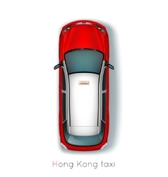 Hong Kong Taxi vector image