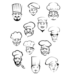 Professional chefs in toques from around the world vector image vector image