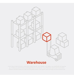 warehouse thin ine design eps 10 icons vector image