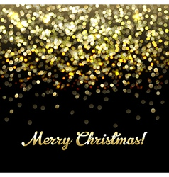 Golden Defocused Merry Christmas Background vector image