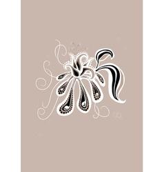 gothic flower vector image