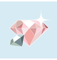 Pink and blue diamonds vector image