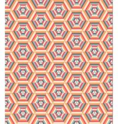 Retro geometric hexagon pattern vector image