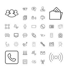 37 communication icons vector image