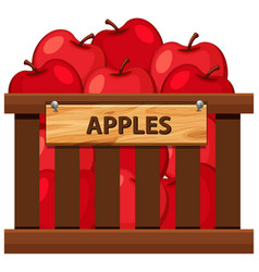 a crate of apples vector image