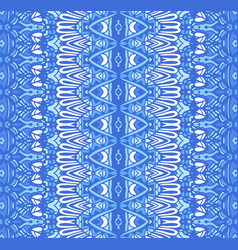 abstract ethnic geometric blue striped vector image