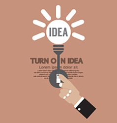 Abstract lightbulb turn on idea concept creativity vector