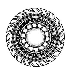 Abstract polynesian maori ethnic circle tattoo vector